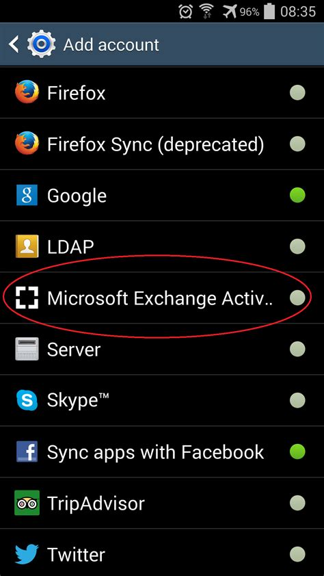 android sync settings setup your zimbra account on an android phone or tablet decs