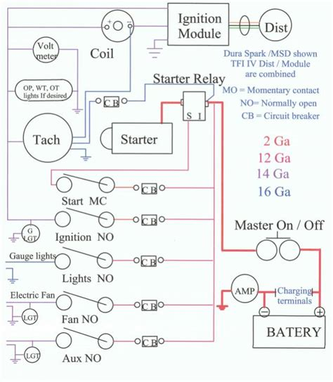 basic race car ignition wiring diagram block diagram