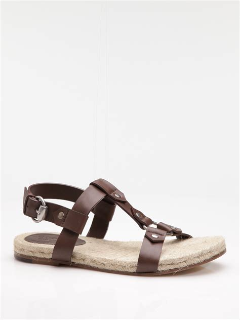gucci sandals gucci sandal in brown for lyst