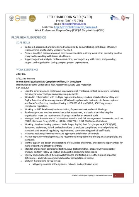 Resume Information Security Ldap J2ee Mi by I Syed Sr Consultant Enterprise Information Security