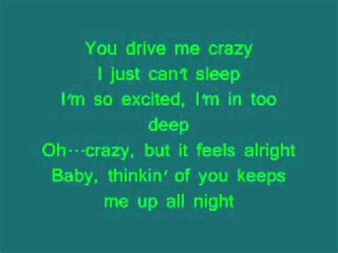 drive me crazy lyrics you drive me crazy britney spears lyrics youtube
