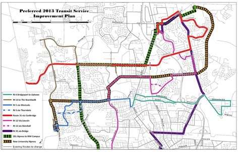 kitchener transit routes proposed 2013 grt service improvements tritag