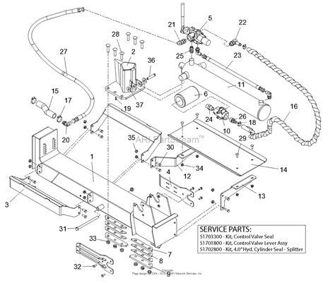 ton diagram gravely 917014 000101 22 ton log splitter parts