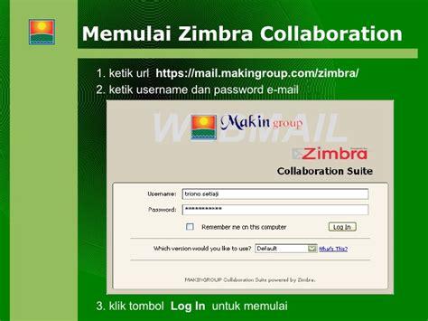 membuat email zimbra zimbra collaboration
