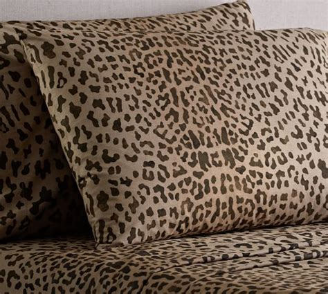 Leopard Rugs Pottery Barn by Leopard Sheet Set Pottery Barn