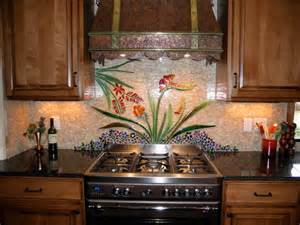 custom botanical backsplash traditional kitchen
