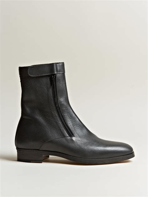 margiela boots mens maison margiela 22 mens zip tight ankle boots in