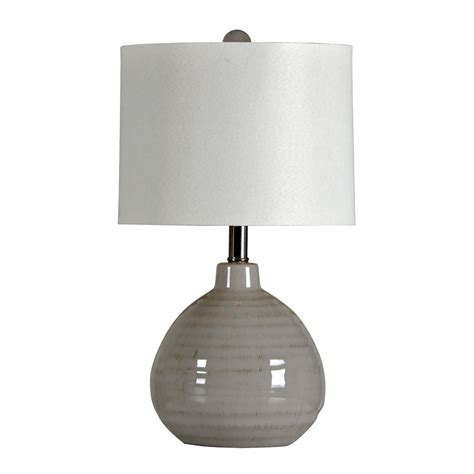 cool gray ceramic accent lamp