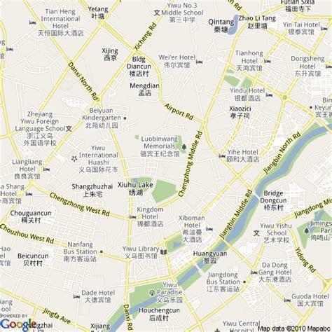 map  yiwu china hotels accommodation