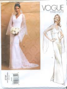 wedding dress patterns vogue 2731 bridal wedding gown sewing pattern size 6 8 10