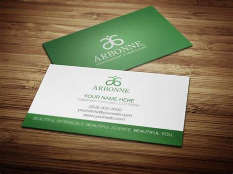 arbonne business cards template arbonne business cards on behance
