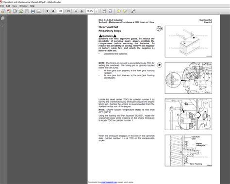 cummins bbb series engine  operation