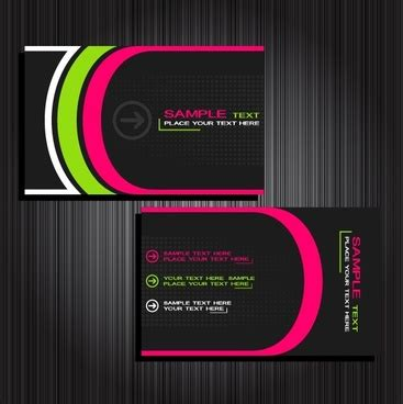 company id card template cdr simple business card template free vector 31 266