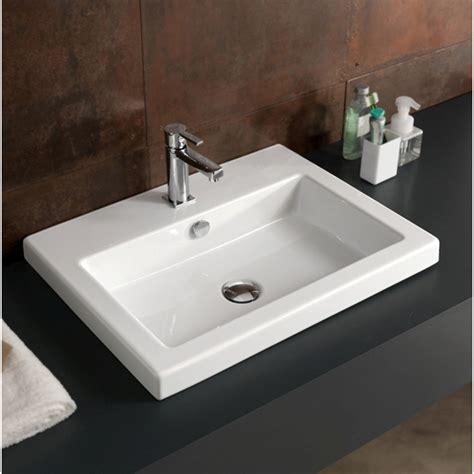 drop in bathroom sink installation tecla can01011 by nameek s cangas rectangular white