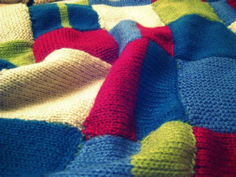 Patchwork Knitted Blanket - mere frivolity i ve been knitting