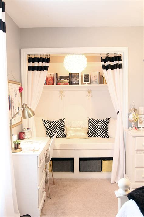 bedroom nook ideas teen girl s room closet reading nook updated less