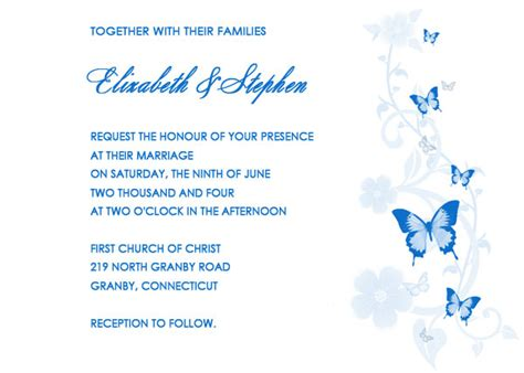 butterfly free wedding invitation wedding invitation