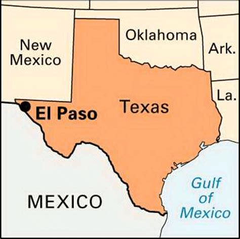 el paso texas on map el paso texas map