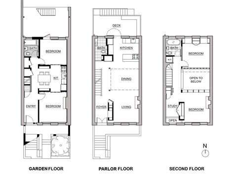 row home floor plan delson or sherman architects pcbrooklyn architect
