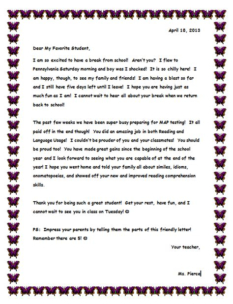 Report Letter To Parents Parent Involvement Literacyportfolio