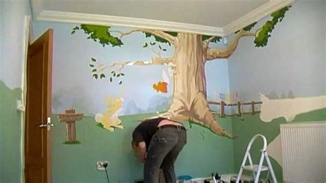 winnie the pooh bedroom wallpaper winnie the pooh bedroom mural wall 1 time lapse youtube