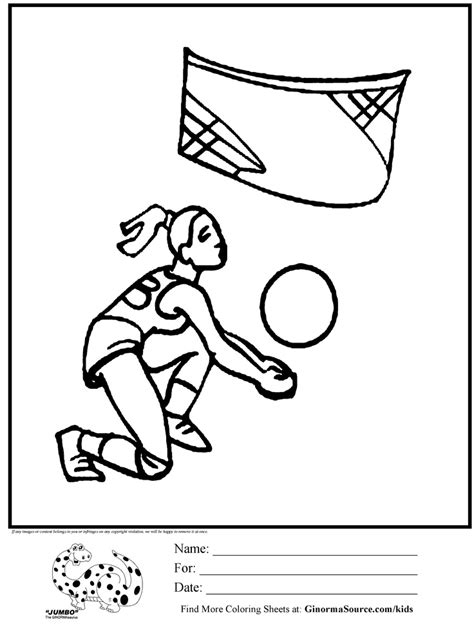 olympic volleyball coloring page sports theme pinterest