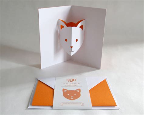 how to make a pop up cat card pop up card cat orange creative stationery everyday