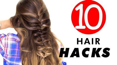 everyday hair hacks hairstyles  girl