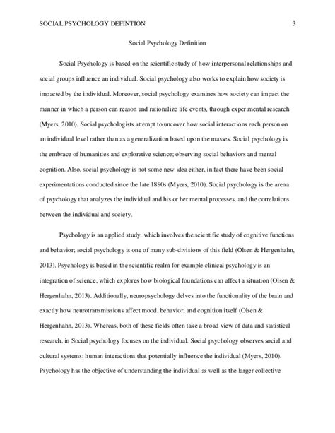 exles of psychology research papers social psychology definition paper