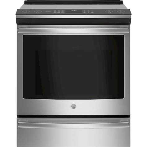 ge electric induction range ge 5 3 cu ft slide in electric induction convection range stainless steel at pacific sales