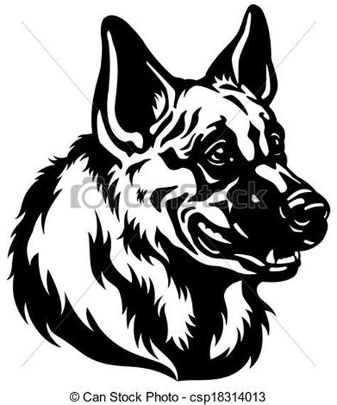 vector clip art of shepherd dog head german shepherd dog