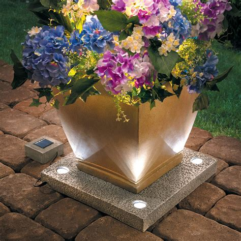 Hello Garden Light With Planter by Solar Light Up Planter Base The Green