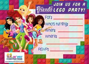 lego friends party invitations cimvitation