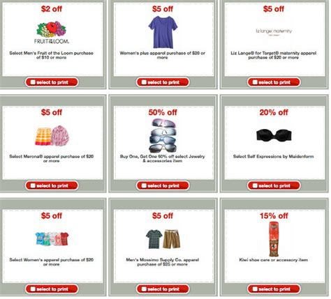 printable target shopping list new target mobile and printable apparel coupons means