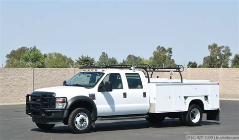 bed stuy cab service 2008 ford f550 4x4 crew cab service truck youtube