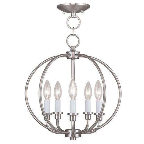 Semi Flush Mount Ceiling Light Brushed Nickel Livex Lighting Providence 5 Light Brushed Nickel Incandescent Ceiling Semi Flush Mount Light