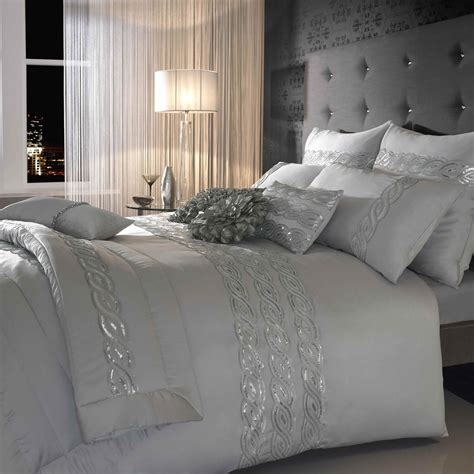 sequin bedding set kylie sequins wave silver bedding set next day delivery
