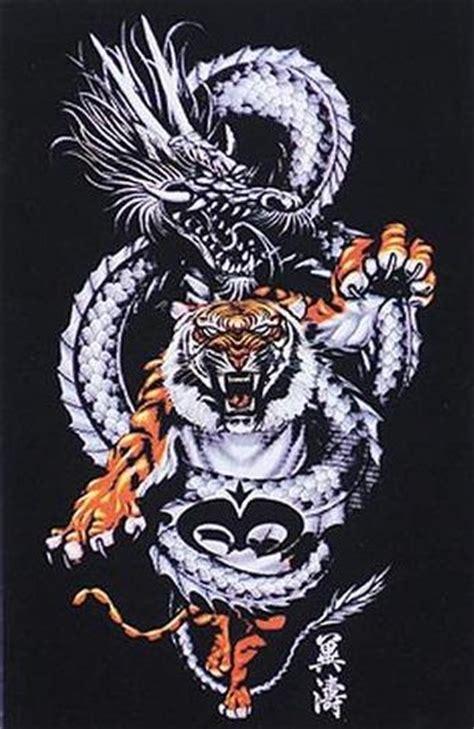 tattoo dragon et tigre tatouage tigre et dragon japonais