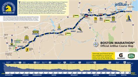 boston marathon route map run your best boston marathon a course preview race