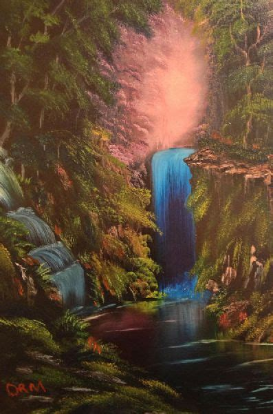bob ross painting a waterfall bob ross waterfall in the woods paintings bob ross