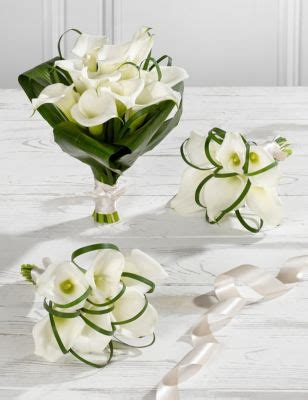 white calla lily wedding flowers collection  ms