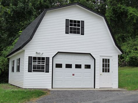 gambrel garage white vinyl siding on a gambrel garage garages