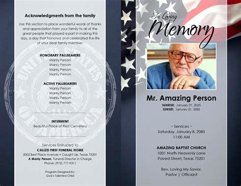 memorial handout template template funeral handouts template memorial service