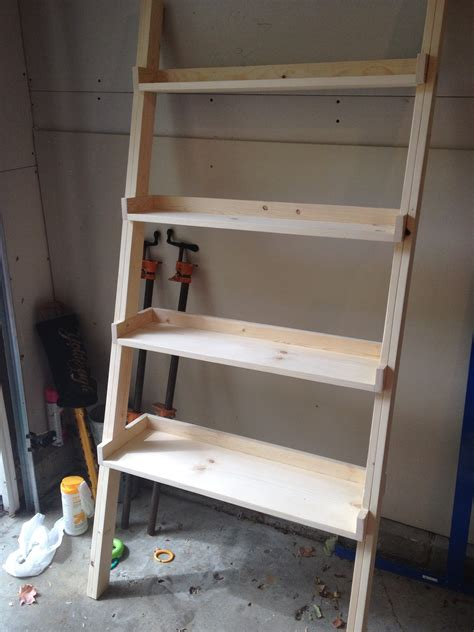 Ladder Bookcase Diy Woodworking Plans Ladder Shelf Woodproject