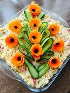 salad decoration food presentation salade