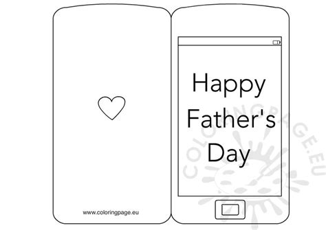 s day card template in s day card smartphone coloring page