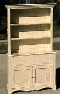 distressed white hutch tables