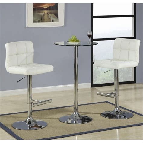 glass top bar table set coaster table with tempered glass top 3 piece pub set