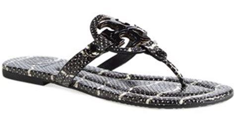 black miller sandal burch miller 2 snake embossed leather sandal in