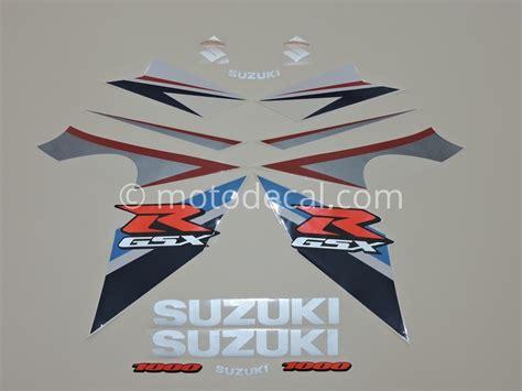 Suzuki Decal Kit Suzuki Gsx R 1000 2007 Blue White Decal Kit By Motodecal